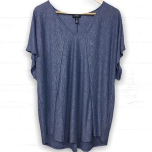 Jones New York tunic top plus size shirt blue 2x